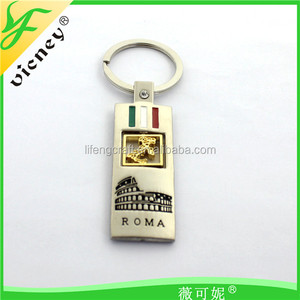 Rome Metal Keychain With Souvenir Gifts Keychain