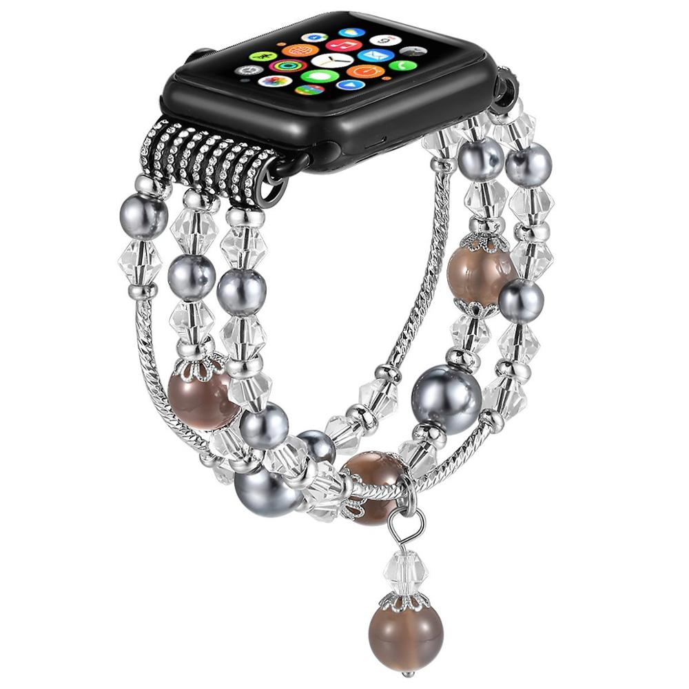 Beaded Band Bracelet Watch Band for Apple Watch Series 4 фото