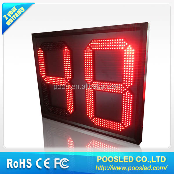 2 digit countdown timer  clock countdown sign 2 digit led timer