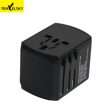 2019 universal travel adapter Type C quick charger power socket outlet 3 usb adapter