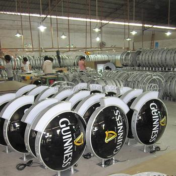 Custom Design Vacuum Formed Double Sided Free Standing Led Aluminium
