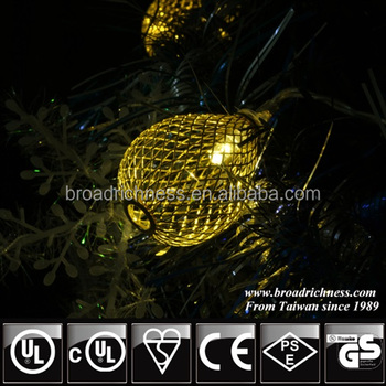 mesh ball battery operated fairy string lights led christmas lights