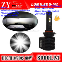 Bright Phi lips Lumileds 80W h4 led manufacturers 9005 hb3 led h7 bulb h1 led vs xhp50 halogens xenon 12000lm