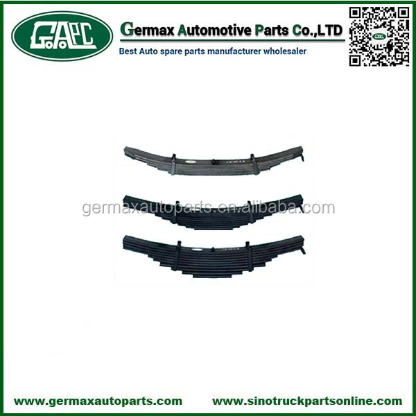 Truck Suspension Parts WG9925522102 Front Leaf Spring for Sinotruk Howo Auto Parts Accessories