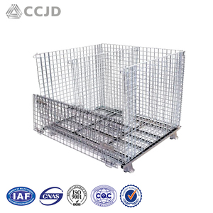 The Last Day Promotion Supermarket Industrial Large Bulk Storage Metal Wire Mesh Basket