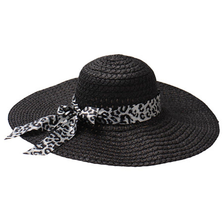 Get Quotations · JIANGTAOLANG Women Wide Brim Floppy Fold Sun Summer Hats  Out Door Straw Beach Hat 515f72795fc2
