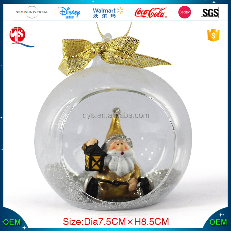 Christmas glass ball with Santa Claus inside