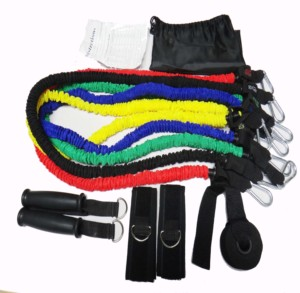 A One Latex resistance band set with nylon covering