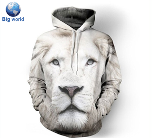 Customized full sublimation print french terry hoodies men wholesale