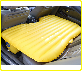 Green Inflatable Car Air Bed Oxford Fabric Pvc Backseat