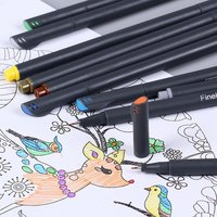Custom Assorted Colors Writing Drawing Markers Art Fine liner Pen