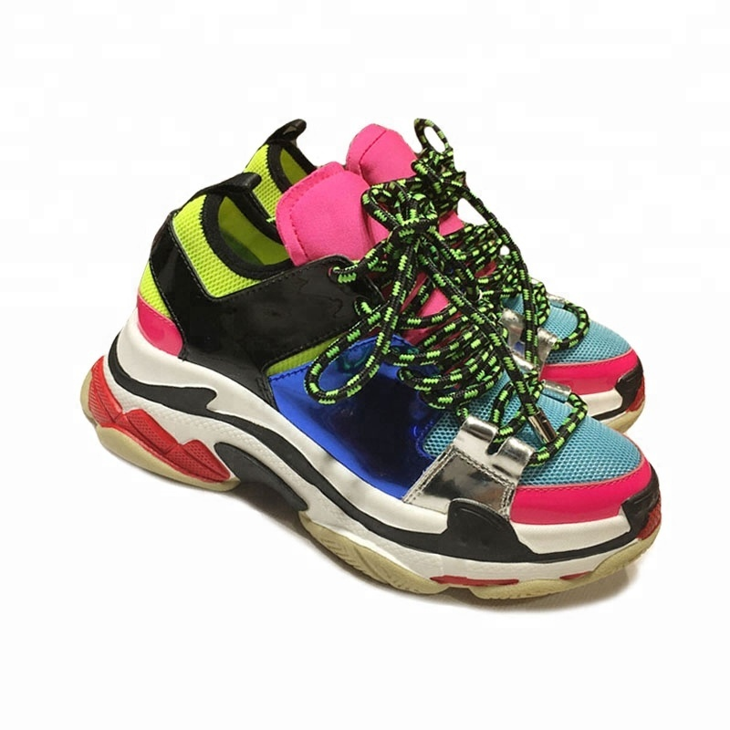 new leather Rainbow shoes mirror casual leather shoes thick soled wRxxYCPnqa