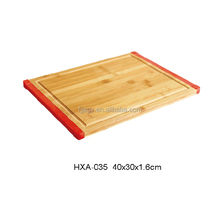 Kitchenware Square Bamboo Cutting Board With Silica Gel End