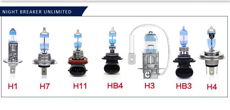 H3 Osram Night Breaker Unlimited High Beam Bulbs Main HI Headlight Headlamp