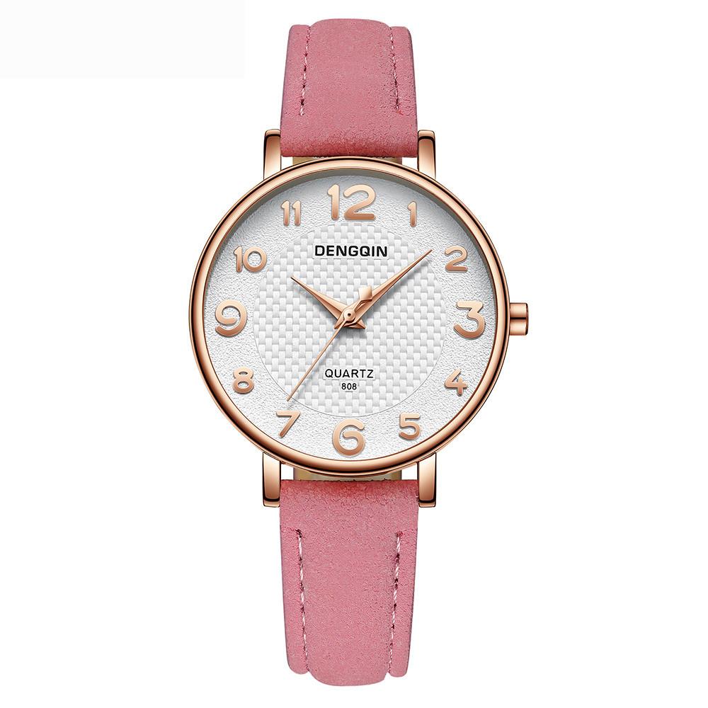 1 PC Nuevo reloj de pulsera de cuarzo de cuero de Ginebra Rhinestone  clásico para mujer(Sin embalaje al por menor) c5343a679346