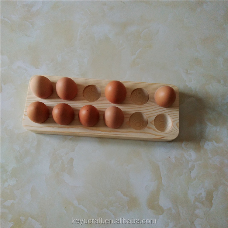 Unfinished 12PCS Egg Wooden Trays for Sale