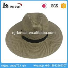 Lancai- ISO 9001 approval Elegant shape women ladies romantic straw hat