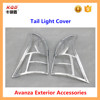 High fitment car exterior accessories chrome tail / rear light cover for toyota avanza 2014