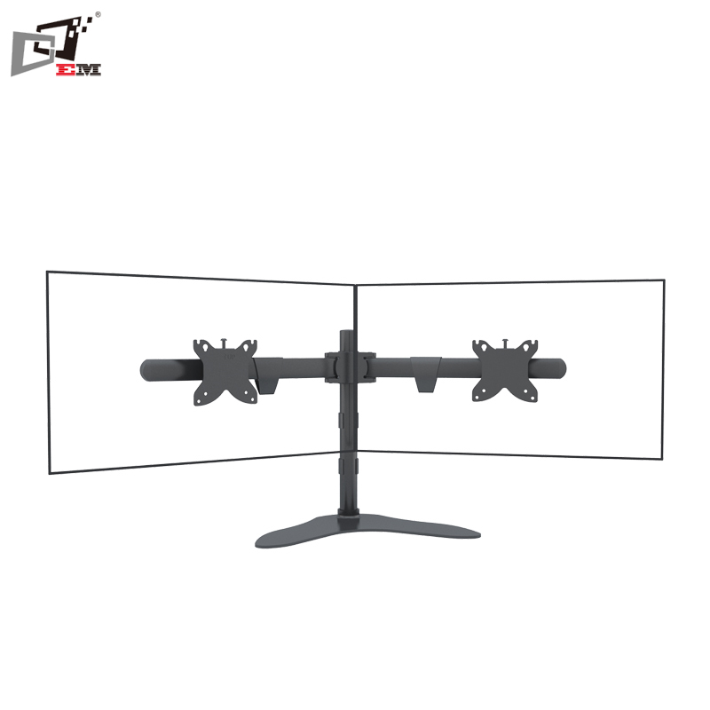 Swivel 150 Degree LCD Mount Dual Monitor Stand For 30Inch Screens