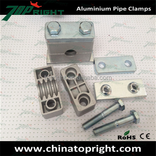 heavy series hydraulic aluminium pipe clamps