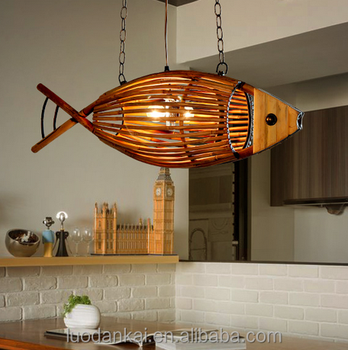 Bamboo l& shades lighting home decor fish shaped pendant l& : bamboo lighting - azcodes.com