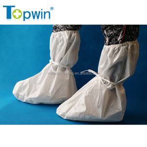 Hospital surgical supplies PP nonwoven anti slip waterproof protective foot covers medical disposable boots