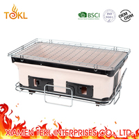 Mini Smoker Kebab bbq grill Products Kamado Tabletop BBQ Japanese Grill in Square