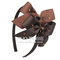 Dark chocolate and brown butterfly HB-1403 baby hair accessory