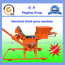 YF2-40Easy to operate kenya soil cement interlocking brick making machine