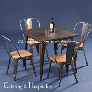 wholesale coffee restaurant table chairs furniture dining table metal industrial cafe dining tables and chairs set