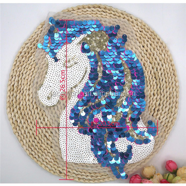 Hot selling Fashion Handmade DIY Horse sequin embroidery patch