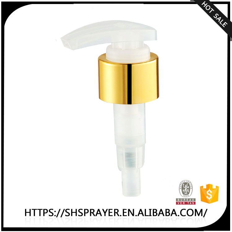 24/410 aluminum gold lotion pump in china manufacturer