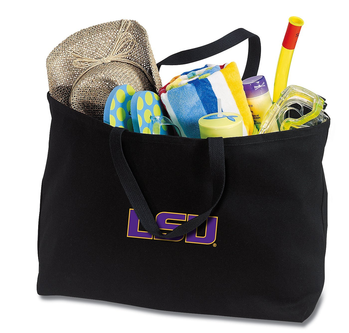 JUMBO LSU Tote Bag or Large Canvas LSU Tigers Shopping Bag