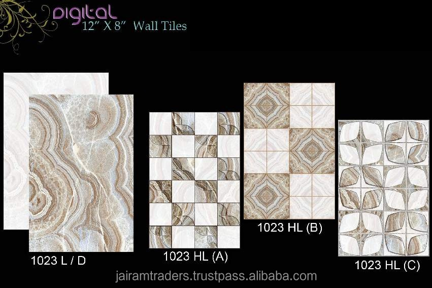 Ceramic Glazed Digital Wall Tiles (20x30cm)