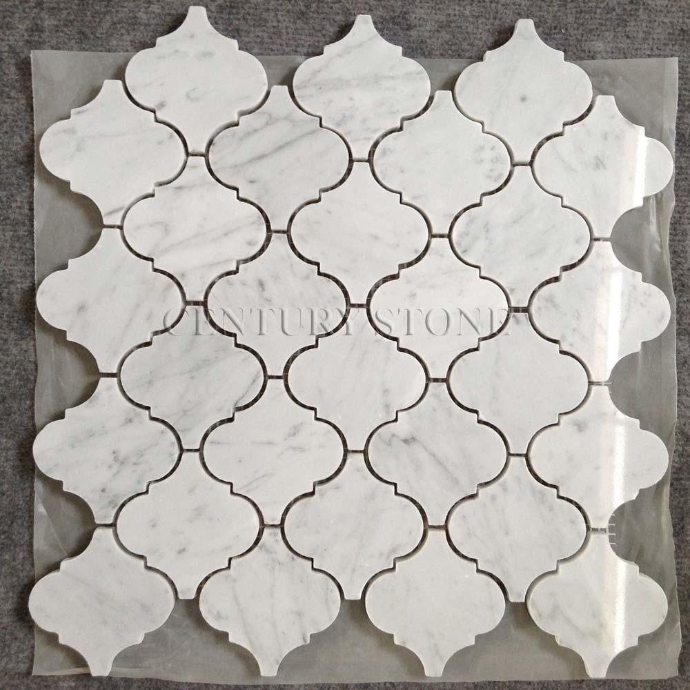 - Carrara Marble Lantern Mosaic Backsplash Tiles Lowes - Buy