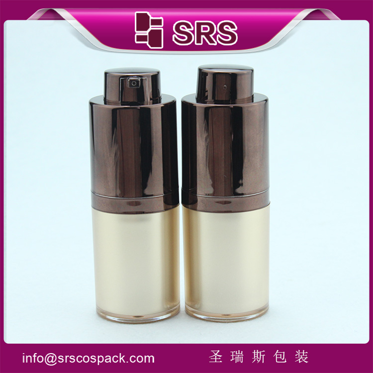 A020 Round airless pump serum bottle empty plastic cosmetic container 15g