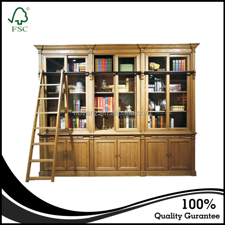 CALW16609N Antique french provincial style living room wooden book case