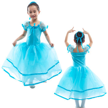 Girls Ballerina Costume Dress Blue Color Pouf Sleeves Long Ballet Dance Tutu with Ribbon Accent 15054  sc 1 st  Alibaba & Girls Ballerina Costume Dress Blue Color Pouf Sleeves Long Ballet ...