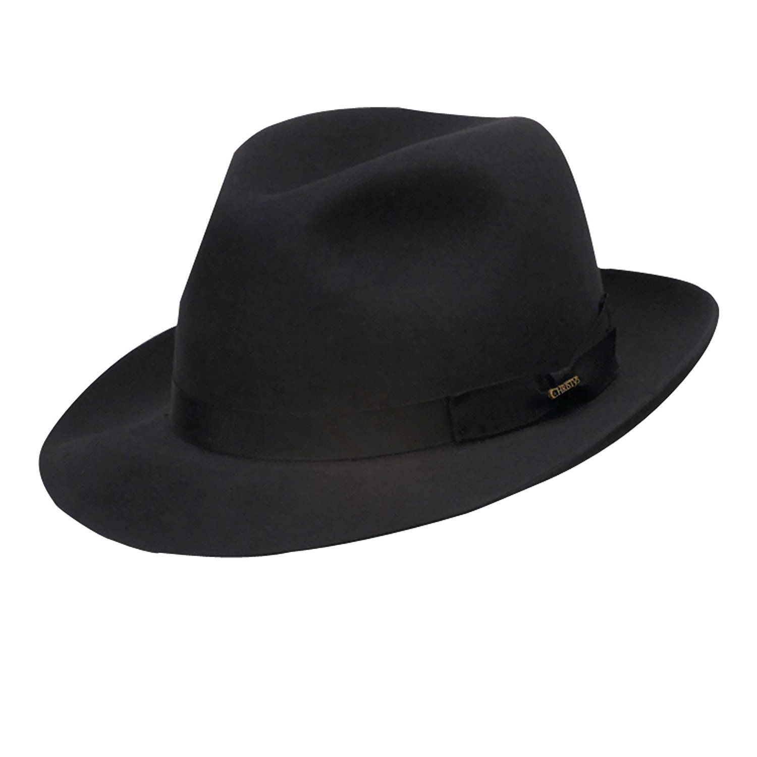 Christys CrownHavemeyer Sinamay Fedora Stingy Brim