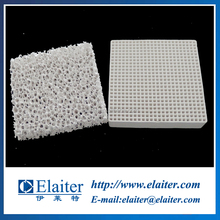 81*81*18.5mm 100cpsi mullite cordierite round hole extruded honeycomb ceramic filter parts