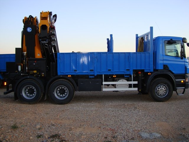 Scania With Crane Effer 585+jib Truck Crane