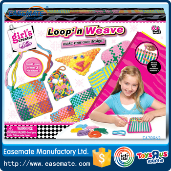 2016 Girls Creator Toy DIY Craft Kit Loom Weaving Set For Kids