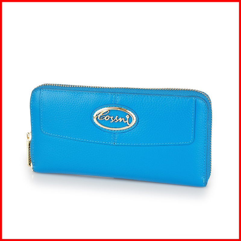 Simple Design Western Style women purse soft leather wallet most popular in Dubai guangzhou leather wallet
