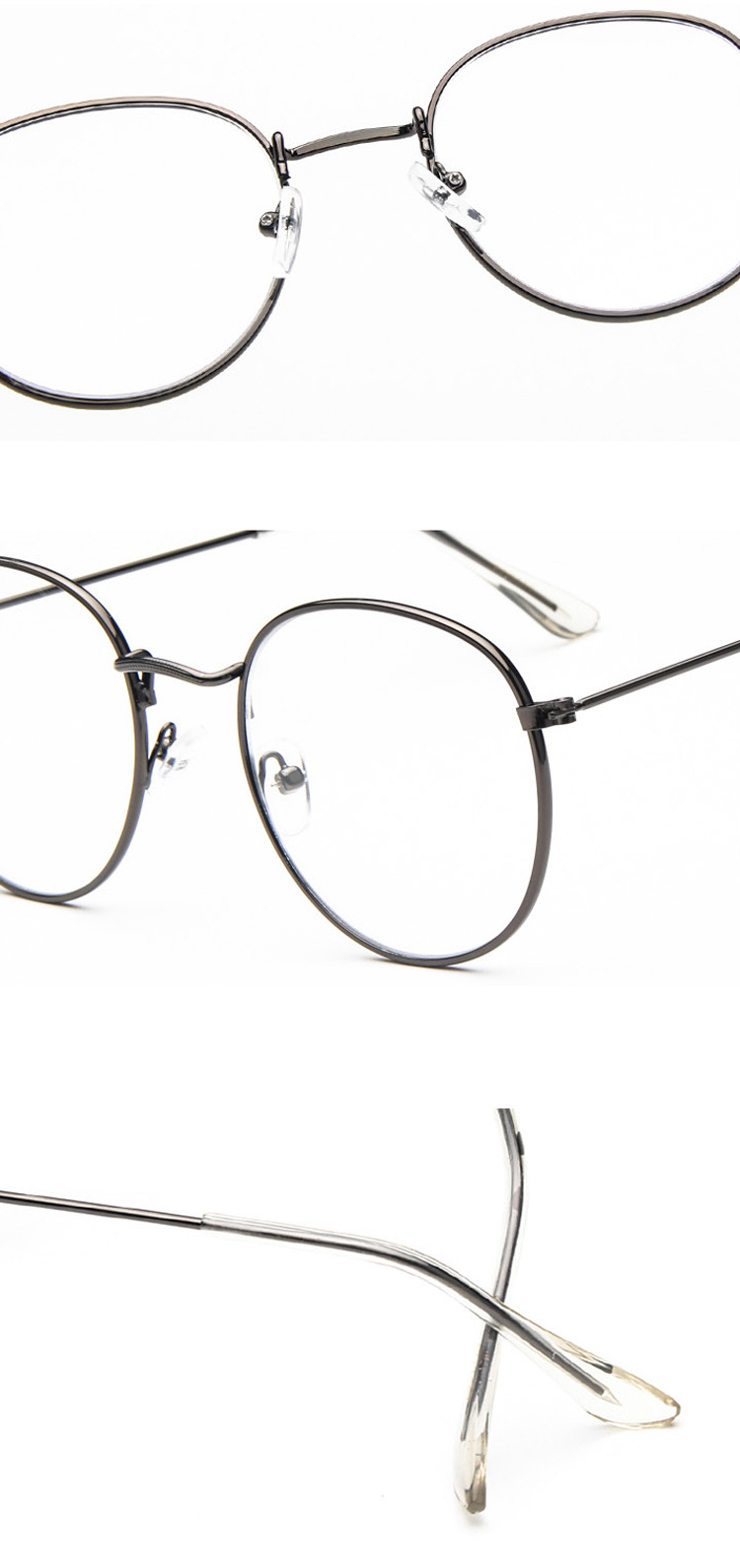 16fad82d65 2019 Wholesale Fashion Vintage Women Eye Glasses Frames Plain Mirror ...
