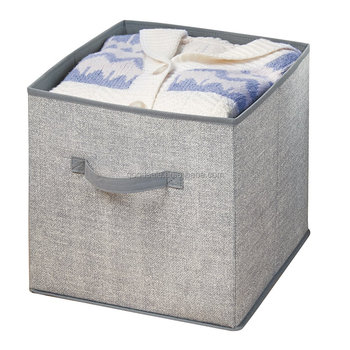 Fabric Closet Non Woven Storage Organizer Cube For Toys Sweaters Accessories Gray Wooden Cubes Plastic Magic