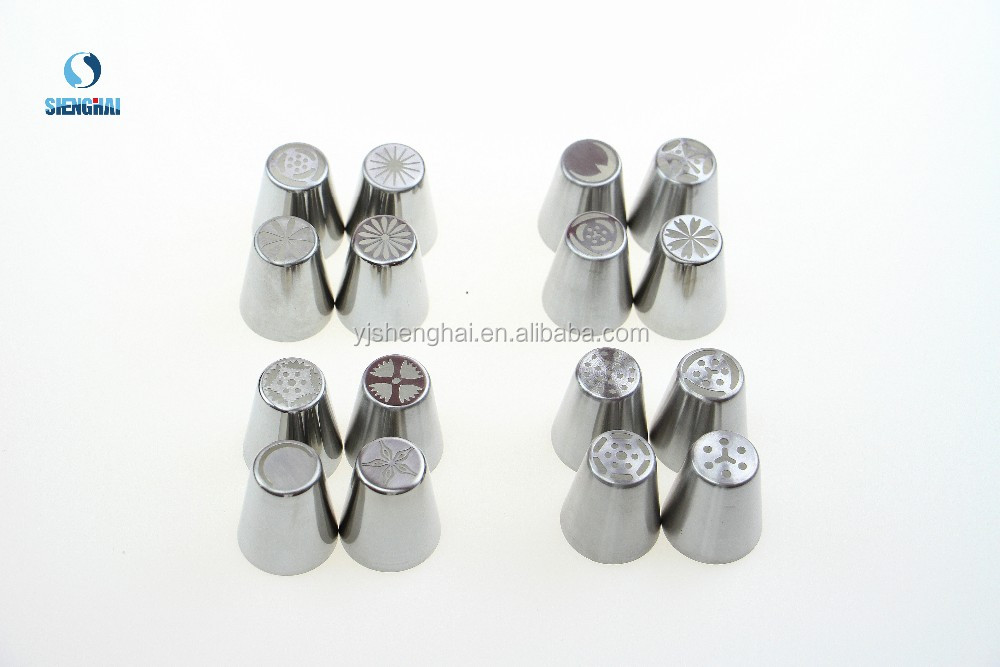 Stainless steel cake piping tips russian nozzles