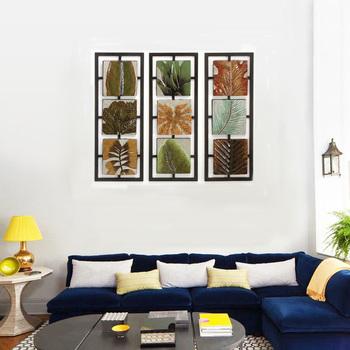 3 Panel Wall Metal Art,High Quality Texture Of Abstract Art Bar Wall ...