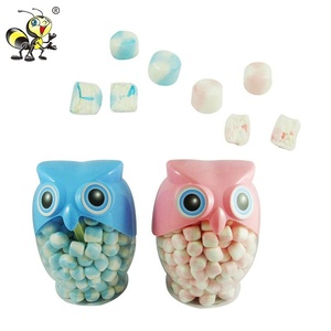 Low Price Owl Shaped Crisp Cotton Candy Marshmallow Filling