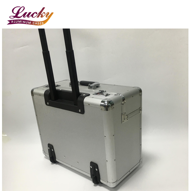 Pilot Flight Hand Luggage Aluminium Travel Trolley Business Briefcase