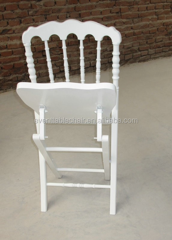 Hot Sale Foldable Wood Napoleon Folding Chair With Padded Seat Wholesale Bu